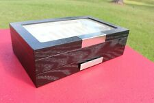 20 Piece Black Ebony Wood Pen Display Case Storage And Fountain Collector Box