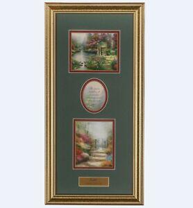 Thomas Kinkade Faith 8.5x18 Portfolio Framed Print (Gold Frame)