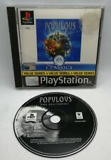 Populous: The Beginning Video Game for Sony PlayStation PS1 PAL TESTED