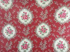 In Tela Cerata Tessuto, rivestito in PVC, Cammeo Posy design, colore rosso, al metro