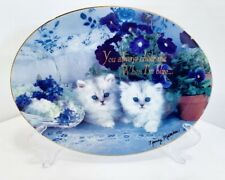 Franklin Mint Heirloom True Blue Friends Cat Collector Plate By Nancy Matthews