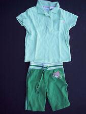Arizona Girls Sz 4 4T Shorts Polo Shirt Cropped Pants Top Set Soccer Green