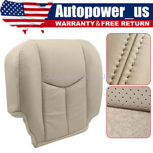 For 2003 to 2006 Cadillac Escalade DRIVER Side Bottom Leather Seat Cover Tan