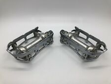 VINTAGE Campagnolo NUOVO RECORD Chromed Silver Pedal Set EXCELLENT USED