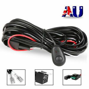 Wiring Loom Harness Kit Fuse Relay Switch 40A 12V For LED Work Driving Light Bar