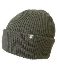 OLIVE GREEN  BEANIE HAT ACRYLIC ARMY MILITARY FISHING  bob hat
