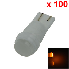 100x Yellow Car T10 W5W Generation Bulb Interior Light Ceramic 1 COB SMD LED A07