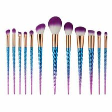 12Pcs Unicorn Makeup Brush Set Powder Foundation Pro Blush Cosmetic Brushes Tool