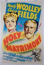 HOLY MATRIMONY - 1943 ORIGINAL MOVIE POSTER - MONTY WOOLLEY - GRACIE FIELDS