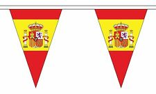 More details for spain with crest 20 metre triangle bunting 30 flags flag 54 flags spanish