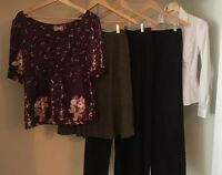 Business Attire Lot Of 5 Size 4 Med Pants Skirt Shirt Ann Taylor Yumi Kim & More