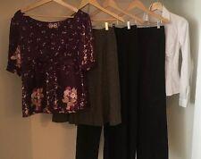 Business Attire Lot Of 5 Size 4 Med Pants Skirt Shirt Ann Taylor Yumi Kim & More