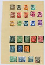 Konvolut 30 Briefmarken + Bock 1 Jugoslawien 1937 mit Falz Sammlung Trauerrand