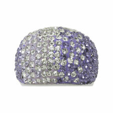Pure Crystal Ombre Band Ring w/Crystals Size 7, Europe size 54