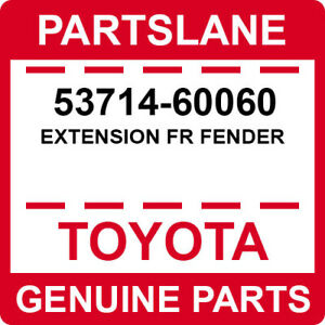 TOYOTA GENUINE 14-20 LAND CRUISER LX570 FRONT LEFT FENDER EXTENSION 53714-60060