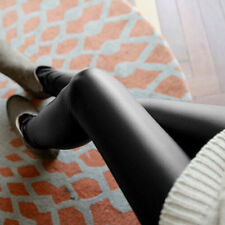 Fashion Style Tights Women Sexy Wet Look Shiny Faux Leather Pants GU
