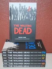 LOT OF THE WALKING DEAD BOOK ONE 1 THRU SEVEN 7 HARDCOVER ROBERT KIRKMAN ~BRS