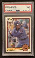 1983 Donruss Baseball #277 Ryne Sandberg RC Rookie PSA 9 Mint Chicago Cubs HOF
