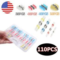 110Pcs Waterproof Sleeve Heat Shrink Butt Connectors Solder Seal Wire Connectors