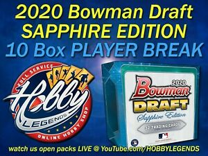 George Kirby MARINERS 2020 Bowman Draft SAPPHIRE 10 BOX PLAYER BREAK