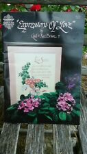 Expressions Of Love Crossstitch Book 61 By: Gail & Ken Brown &  Gloria & Pat