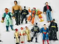 Lot (12) Vintage Action Figures Rambo Thundercats WWF Batman Superman Nightrider