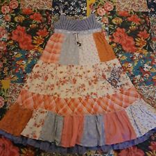 NEXT AGE 8 GIRLS LONG SUMMER MAXI DRESS PATCHWORK HOLIDAY FLORAL CHECK SIGNATURE