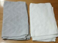 White And Grey Asda George Cellular Baby Shawl Blankets 2 Pack