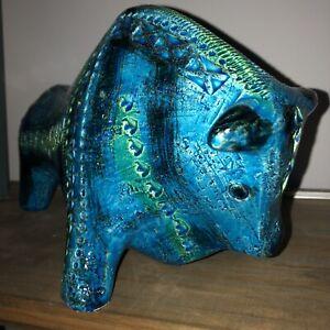 Original Vintage Bitossi Bull Italian Pottery Italy Ceramic