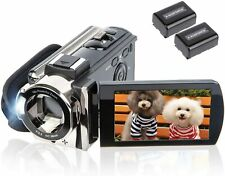 Video Camera Camcorder 24MP HD 16x Digital 3