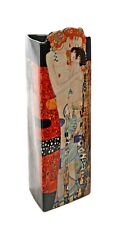 Three Ages of Women Mother and Child Ceramic Museum Vase by Klimt 9H