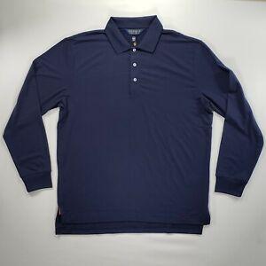 Polo Golf Ralph Lauren Long Sleeve Polo Shirt Men's Large Navy Blue