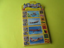 VINTAGE SNAP TOGETHER PLAYKITS 4 x AIRPLANES GAMES COLLECTION MADE IN ITALY MINT