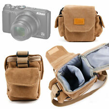 Light Brown Small Sized Canvas Carry Bag for Nikon Coolpix A300 | A900 Cameras