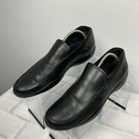 Prada Men's Black Leather Slip-on Soft Leather Sport Loafers Sneakers Size 11 D