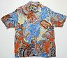 CUBAVERA Size LARGE Men's Hawaiian-Style Camp Shirt Paisley Pattern Rayon L