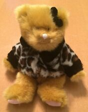 """Russ Small Bear Plush with Leopard Coat 8"""""""
