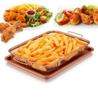 Copper Chef Crisper Oven Air Fryer Non Stick Basket Cookie Sheet Tray Pan BR