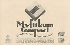 Y4200 MYSTIKUM Compact - Parfumerie Scherk - Pubblicità d'epoca - 1925 Old ad