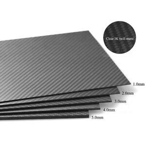 100% Carbon Fiber Sheet Plate Panel 3K Plain Weave 100x100&200x300,Thick 0.2~5mm