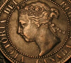 Old Canadian Coins 1893 Canadian Large Cent Canada Highgrade Sharp