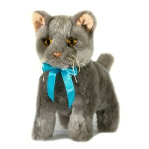Cat Kitten Grey Plush Stuffed Toy 22cm  Sasha by Bocchetta
