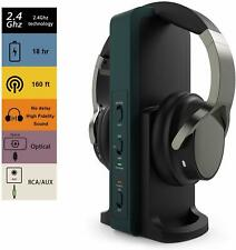 Wireless TV Headphones with 2.4G Digital RF Transmitter Hi-Fi Cordless Headset