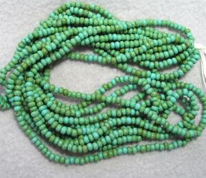 50 GRAMS, Czech Green/Turquoise, Seed Beads, 6/0