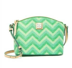 NWT Dooney & Bourke Chevron Suki Crossbody Shoulder Bag Green