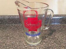 Vintage Schmidt Beer Glass Pitcher Watertown,Mn Flame Days Htf Rare