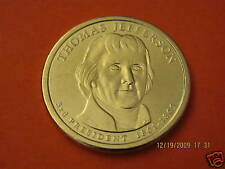 2007-P  BU Mint State (Thomas Jefferson) US Presidential One Dollar Coin
