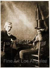 "Henry Fox Talbot Photo "" Chess Players"" 1840"