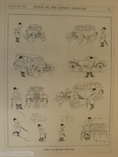 "7x10"" punch cartoon 1931 THAT OLYMPIAN FEELING car sales / purchase"