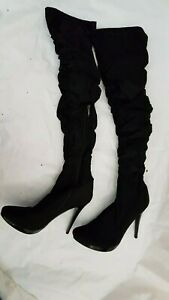 Designer Overknee Stiefel Club-Party Plateau High Heels GOGO,Plateau,Stiletto 41